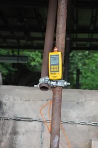 Le pyromètre indiquant la température atteinte en mai 2014.