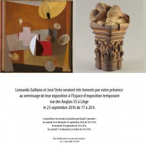 Carton d'invitation exposition Galliano-Strée