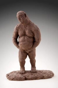 L'Homme qui marche Argile cellulose, 32 x 26 x15 cm, 2006