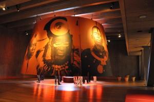 Vue intérieure d'une des salles d'exposition du Mas à Anvers.