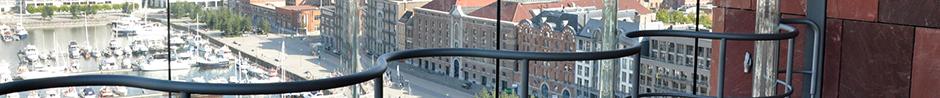 Vue sur la ville d'Anvers depuis le musée Mas.