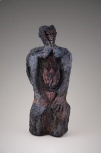 Un Mal qui ronge Raku, 37 x 16 x 12 cm, 2010