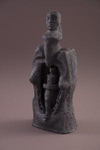 L'Âme attachée II, Terre cuite au four à bois,  50 x 20 x 17 cm, 2013