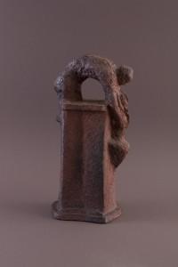 Couple colonne, Terre cuite au four à bois, 45 x 21 x 16 cm, 2013