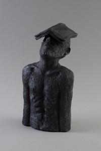 Homme-livre, Four à bois, 41 x 22 x 19 cm, 2019