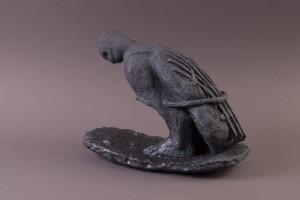 Chimère, Terre cuite au four à bois,  28 x 36 x 18 cm, 2013