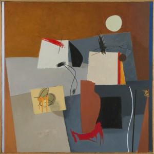 Composizione con figura 6, 50 x 50 cm, 2016