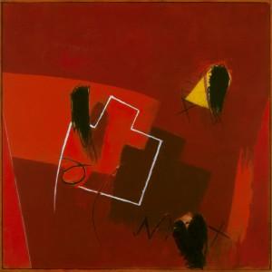 Rilievo sul rosso, 40 x 40 cm, 2016