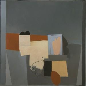 Composizione con figura, 65 x 65 cm, 2016