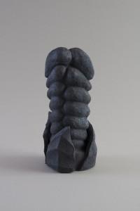 Bourgeon en duo (Vegetalis IX), Four à bois, 24 x 11 x 11 cm, 2018