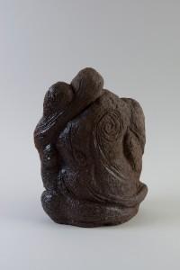 Buste aux astres II, Four à bois, 40 x 30 x 18 cm, 2017