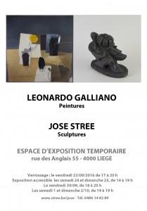 Affiche exposition Galliano-Strée
