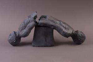 Gémelité, Terre cuite au four à bois, 25 x 54 x 15 cm, 2013